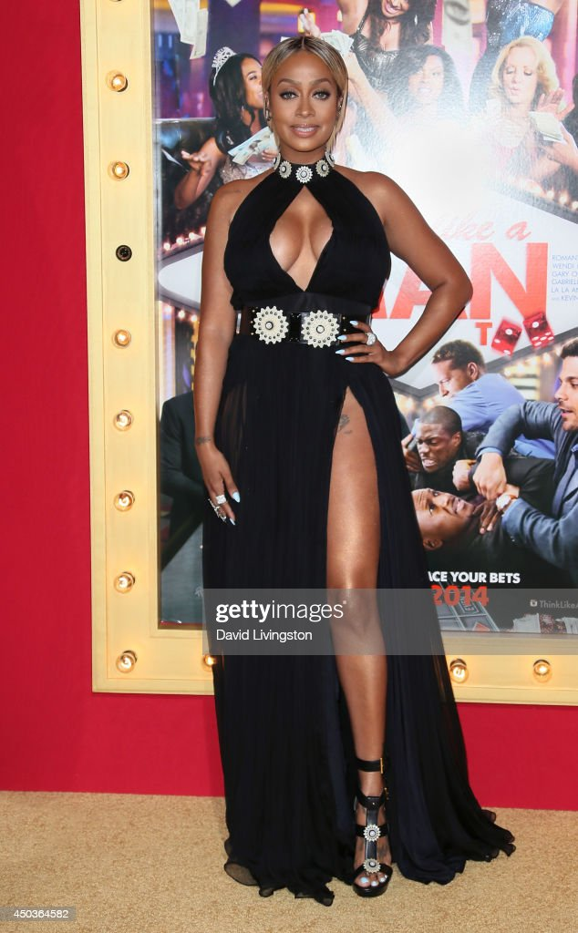 TV personality La La Anthony attends the premiere of Screen Gems' 'Think Like a Man Too' at the TCL Chinese Theatre on June 9, 2014 in Hollywood, California.