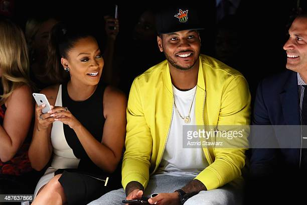 TV personality La La Anthony NBA player Carmelo Anthony and tv personality Nigel Barker attend the Kids Rock fashion show during Spring 2016 New York...