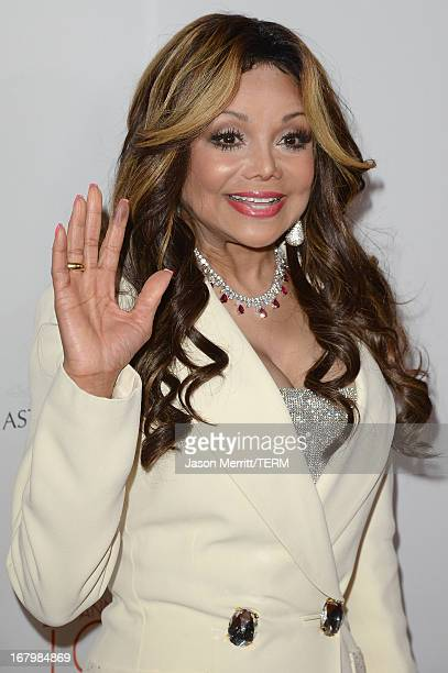 Personality La Toya Jackson attends the 20th Annual Race To Erase MS Gala 'Love To Erase MS' at the Hyatt Regency Century Plaza on May 3 2013 in...