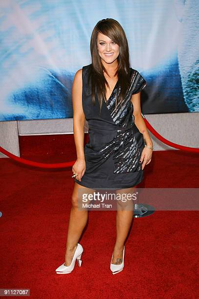 Personality Lacey Schwimmer arrives to the Los Angeles premiere of 'Surrogates' held at the El Capitan Theatre on September 24 2009 in Hollywood...