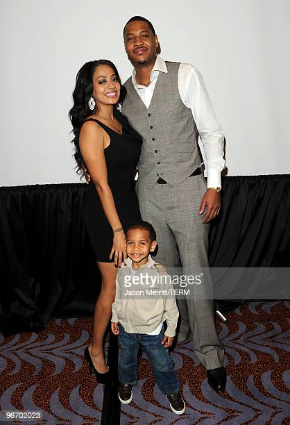 TV personality LaLa Vasquez son Kiyan Anthony and NBA player Carmelo Anthony attend the Carmelo Anthony Foundation AllStar brunch held at Hotel Joule...