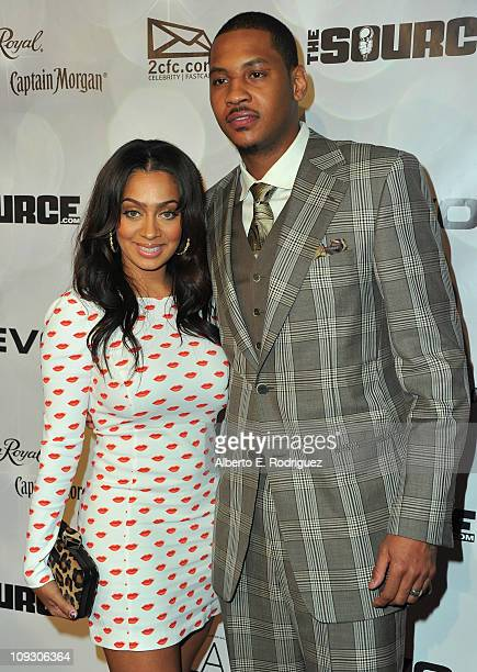 TV personality Lala Vazquez and NBA player Carmelo Anthony arrive to the National Basketball Players Association AllStar Gala on February 19 2011 in...