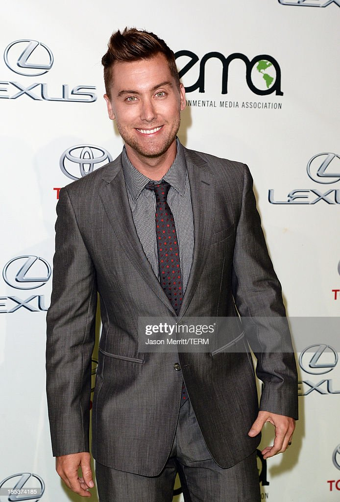 TV personality Lance Bass arrives at the 23rd Annual Environmental Media Awards presented by Toyota and Lexus at Warner Bros. Studios on October 19, 2013 in Burbank, California.