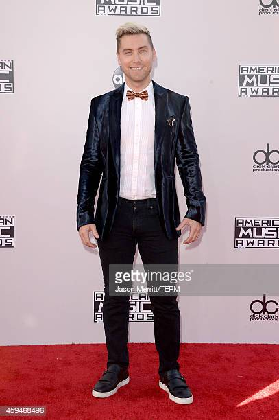 TV personality Lance Bass attends the 2014 American Music Awards at Nokia Theatre LA Live on November 23 2014 in Los Angeles California