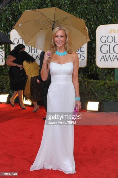 TV personality Lara Spencer arrives at the 67th Annual Golden Globe Awards held at The Beverly Hilton Hotel on January 17 2010 in Beverly Hills...