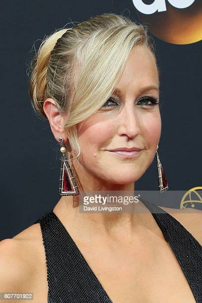 TV personality Lara Spencer arrives at the 68th Annual Primetime Emmy Awards at the Microsoft Theater on September 18 2016 in Los Angeles California