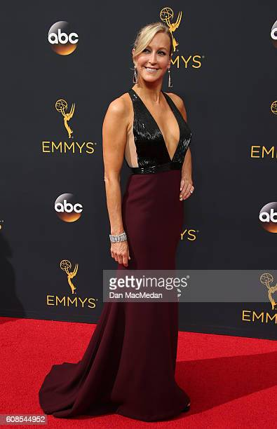TV personality Lara Spencer attends the 68th Annual Primetime Emmy Awards at Microsoft Theater on September 18 2016 in Los Angeles California