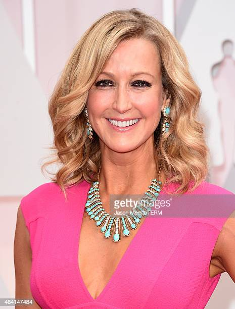 TV personality Lara Spencer attends the 87th Annual Academy Awards at Hollywood Highland Center on February 22 2015 in Hollywood California