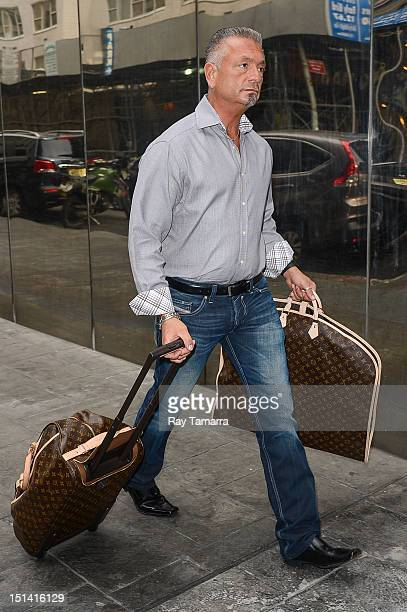 TV personality Larry Caputo leaves the Good Day New York taping at the Fox 5 Studios on September 6 2012 in New York City