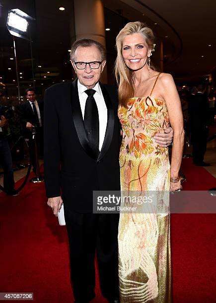 TV personality Larry King and singer Shawn King attend the 2014 Carousel of Hope Ball presented by MercedesBenz at The Beverly Hilton Hotel on...