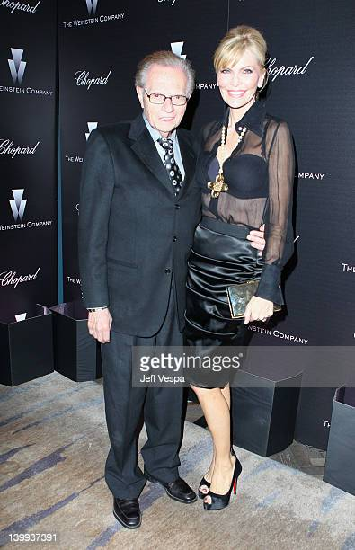 Personality Larry King and Singer Shawn Southwick attends The Weinstein Company Celebrates The 2012 Academy Awards Presented By Chopard held at Soho...