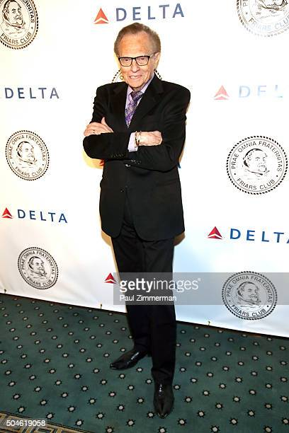 TV personality Larry King attends Frank Sinatra's 100 Birthday Celebration at The Pierre Hotel on January 11 2016 in New York City