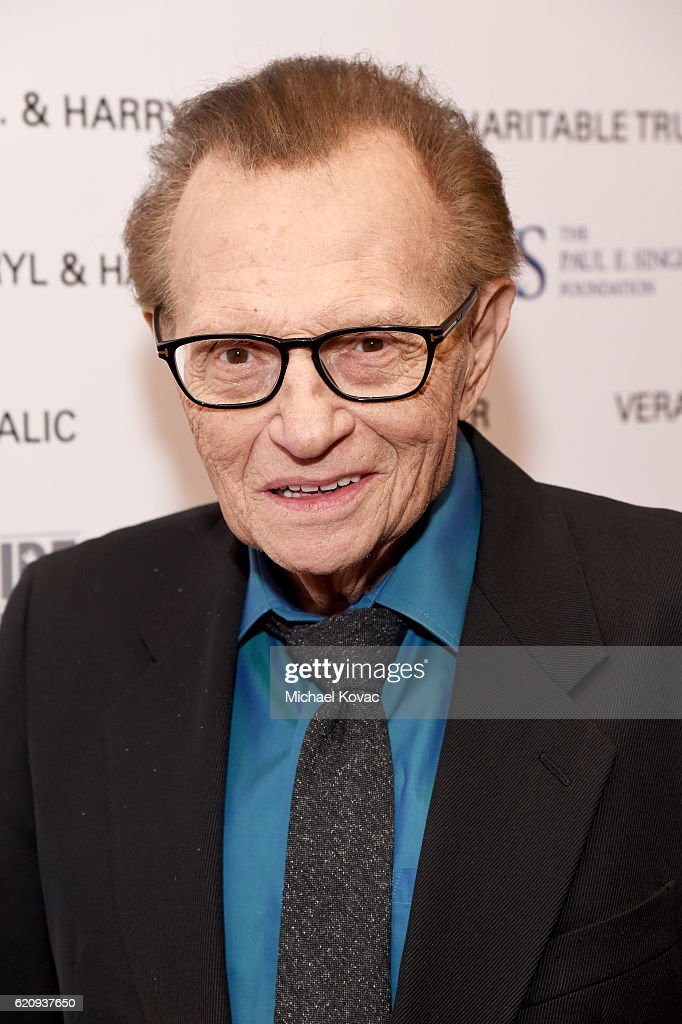 TV personality Larry King attends Friends Of The Israel Defense Forces Western Region Gala at The Beverly Hilton Hotel on November 3, 2016 in Beverly Hills, California.