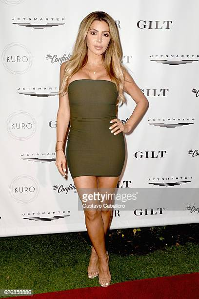 TV personality Larsa Pippen attends the DuJour Media Gilt JetSmarter party to kick off Art Basel at The Confidante on November 30 2016 in Miami Beach...
