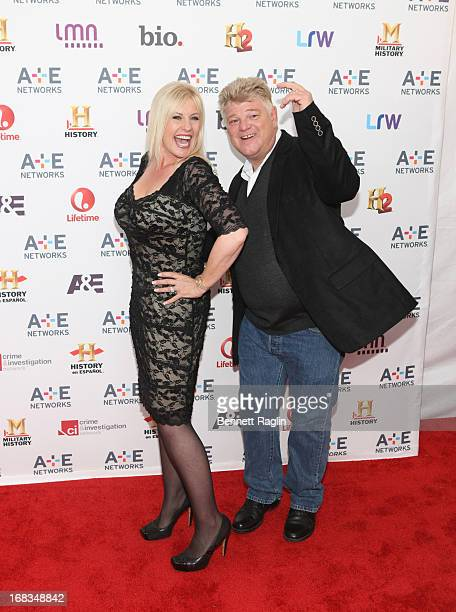 TV personality Laura Dotson and Dan Dotson attend the 2013 AE Networks Upfront at Lincoln Center on May 8 2013 in New York City