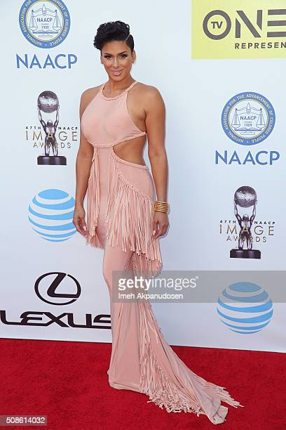 TV personality Laura Govan attends the 47th NAACP Image Awards presented by TV One at Pasadena Civic Auditorium on February 5 2016 in Pasadena...