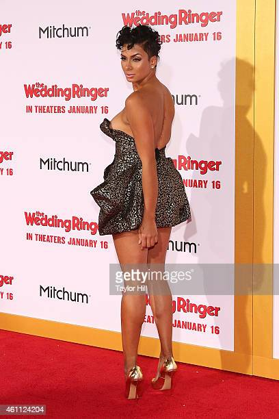 TV personality Laura Govan attends the world premiere of The Wedding Ringer at TCL Chinese Theatre on January 6 2015 in Hollywood California