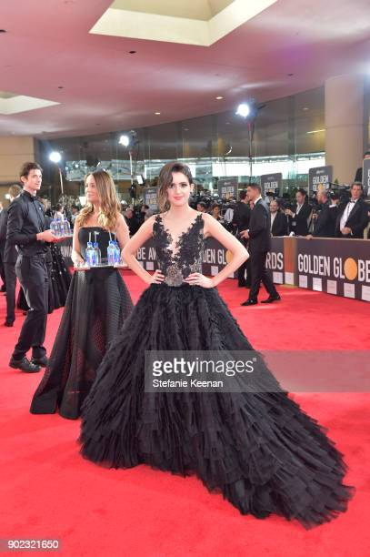 TV personality Laura Marano attends The 75th Annual Golden Globe Awards at The Beverly Hilton Hotel on January 7 2018 in Beverly Hills California