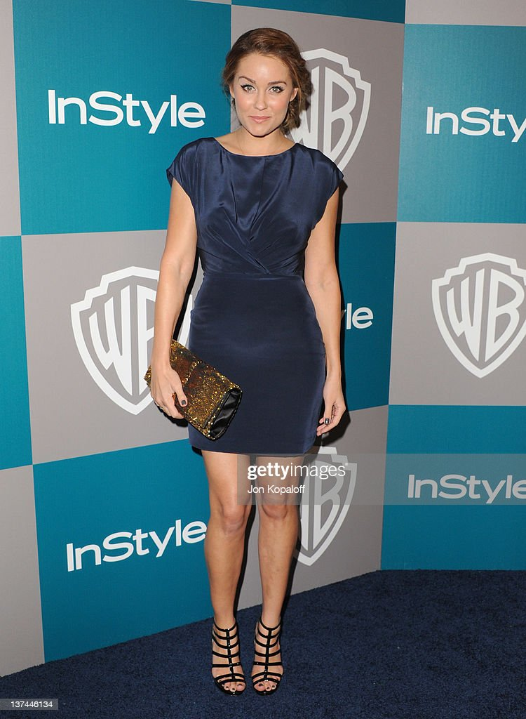 TV Personality Lauren Conrad arrives at the 13th Annual Warner Bros. And InStyle Golden Globe After Party held at The Beverly Hilton hotel on January 15, 2012 in Beverly Hills, California.