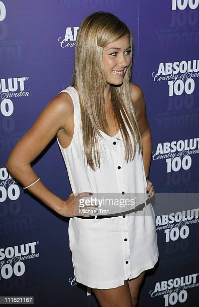 TV Personality Lauren Conrad arrives at the 2008 Glow In The Dark Tour official afterparty hosted by Absolut 100 held at GOA nightclub on April 22...