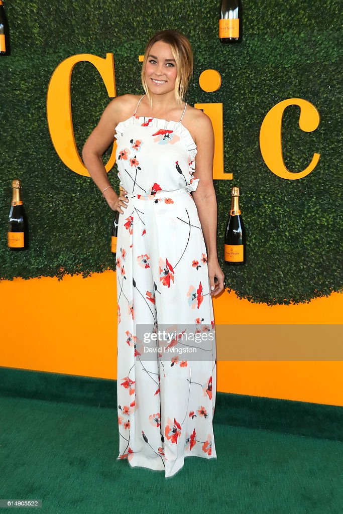 TV personality Lauren Conrad arrives at the 7th Annual Veuve Clicquot Polo Classic at Will Rogers State Historic Park on October 15, 2016 in Pacific Palisades, California.