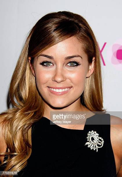 Personality Lauren Conrad arrives at the Los Angeles Debut of the Intermix Store on Robertson Boulevard on September 25 2007 in Los Angeles California