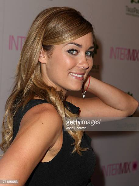 TV personality Lauren Conrad arrives at the opening of the Intermix store on Robertson Boulevard on September 25 2007 in Los Angeles California