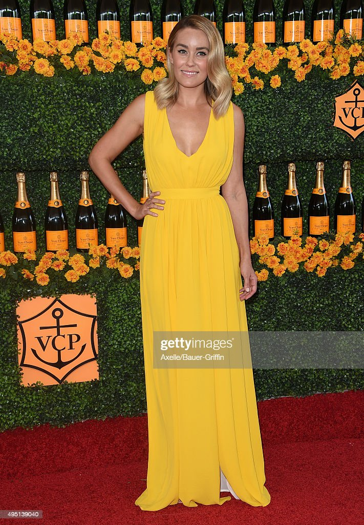 TV personality Lauren Conrad arrives at the Sixth-Annual Veuve Clicquot Polo Classic, Los Angeles at Will Rogers State Historic Park on October 17, 2015 in Pacific Palisades, California.