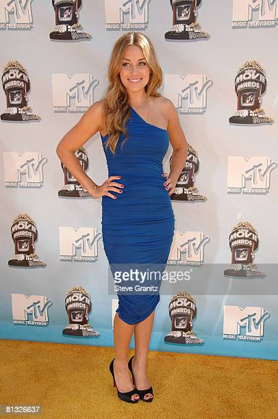 Personality Lauren Conrad arrives to the 2008 MTV Movie Awards on June 1 2008 at the Gibson Amphitheatre in Universal City California