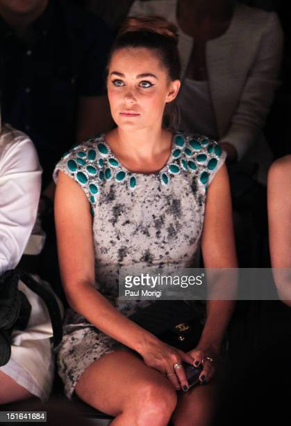 TV personality Lauren Conrad attends the Lela Rose show during Spring 2013 MercedesBenz Fashion Week at The Studio Lincoln Center on September 9 2012...