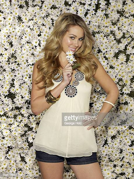 TV personality Lauren Conrad is photographed for Cosmo Girl Magazine on December 7 2006 at The Focus Studio in Venice California