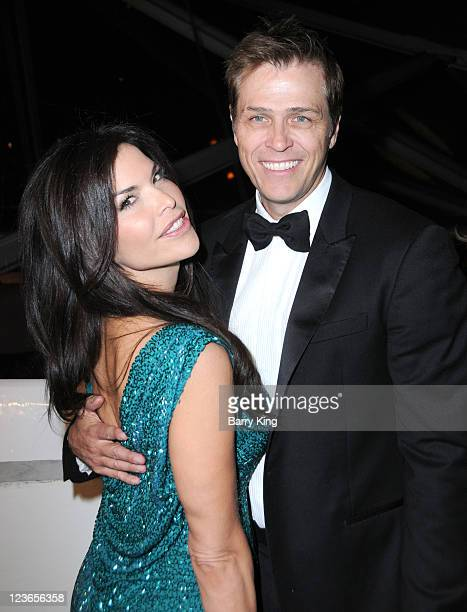 TV personality Lauren Sanchez and husband CAA agent Patrick Whitesell arrive at The Weinstein Company and Realativity Media's 2011 Golden Globes...