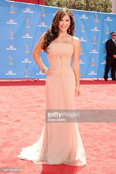 TV personality Lauren Sanchez arrives at the 62nd Annual Primetime Emmy Awards held at the Nokia Theatre LA Live on August 29 2010 in Los Angeles...