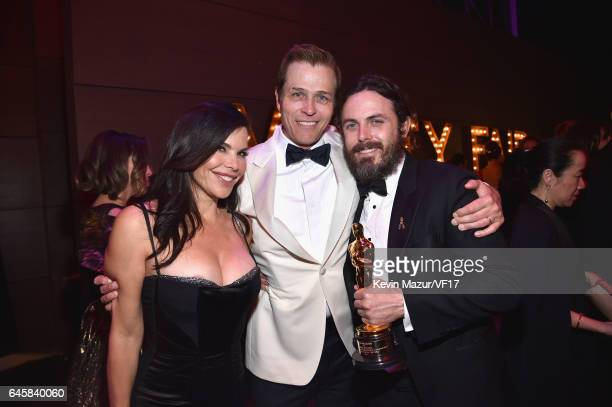 TV personality Lauren Sanchez talent agent Patrick Whitesell and actor Casey Affleck attend the 2017 Vanity Fair Oscar Party hosted by Graydon Carter...