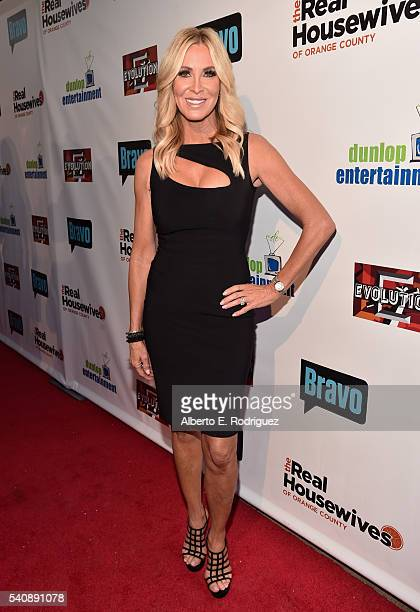 TV personality Lauri Peterson attends the premiere party for Bravo's The Real Housewives of Orange County 10 year celebration at Boulevard3 on June...