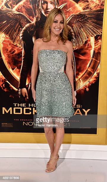 Personality Laurie Feltheimer arrives at the premiere Of Lionsgate's The Hunger Games Mockingjay Part 1 at Nokia Theatre LA Live on November 17 2014...