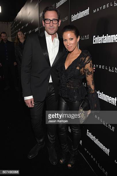 TV personality Lawrence Zarian and Jennifer Dorogi attend Entertainment Weekly Celebration Honoring The Screen Actors Guild Awards Nominees presented...
