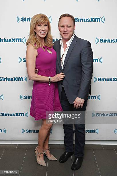 TV personality Leeza Gibbons and husband actor Steve Fenton visit the SiriusXM Studios on November 14 2016 in New York City