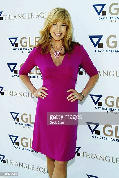 Personality Leeza Gibbons arrives to the 8th Annual GLEH Garden Party on October 11 2009 in Los Angeles California