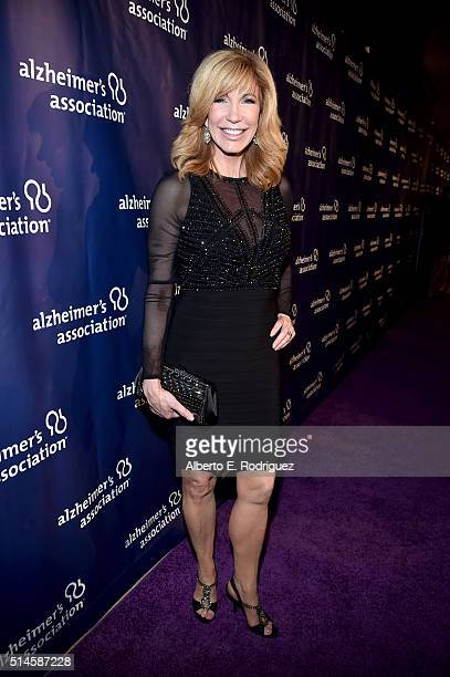 TV personality Leeza Gibbons attends the 24th and final A Night at Sardi's to benefit the Alzheimer's Association at The Beverly Hilton Hotel on...