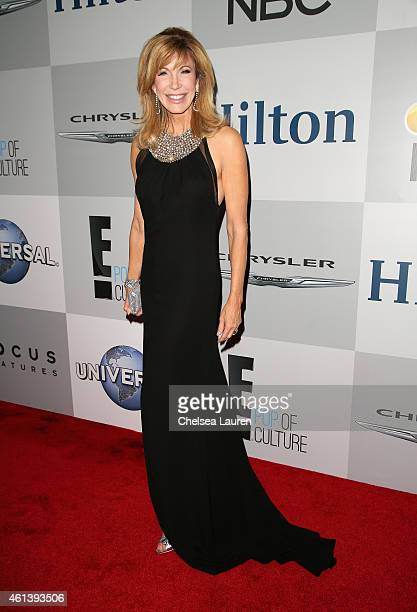 Personality Leeza Gibbons attends the NBCUniversal 2015 Golden Globe Awards Party sponsored by Chrysler at The Beverly Hilton Hotel on January 11...