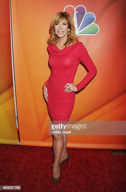 TV personality Leeza Gibbons attends the NBCUniversal 2015 Press Tour at the Langham Huntington Hotel on January 16 2015 in Pasadena California