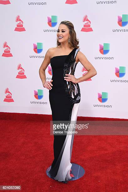 TV personality Ligia Uriarte attends The 17th Annual Latin Grammy Awards at TMobile Arena on November 17 2016 in Las Vegas Nevada