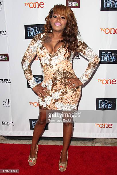 TV personality Lil' Mo attends the TV One's New Series RB Divas LA launch party held at The London Hotel on July 9 2013 in West Hollywood California