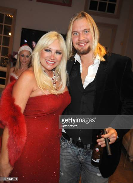 TV personality Linda Hogan attends the Wikked Entertainment holiday party on December 17 2009 in Los Angeles California