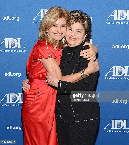 TV personality Lisa Bloom and attorney Gloria Allred attend the AntiDefamation League 20th Annual Deborah Awards at SLS Hotel on March 19 2014 in...