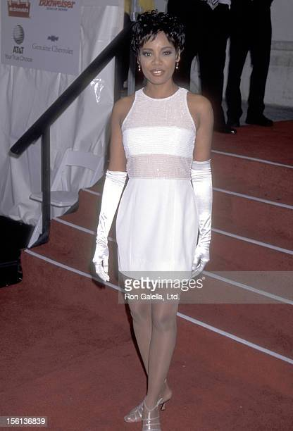 TV Personality Lisa Canning attends the 10th Annual Soul Train Music Awards on March 29 1996 at Shrine Auditorium in Los Angeles California