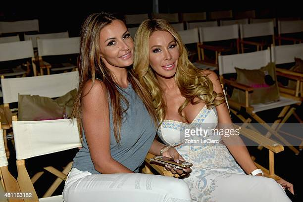 TV personality Lisa Hochstein and Ania Danilina attend the 6 Shore Road by Pooja Resort 2016 collection during FUNKSHION Fashion Week Miami Beach...