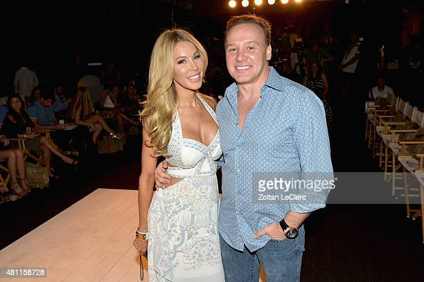 TV personality Lisa Hochstein and Dr Leonard Hochstein attend the 6 Shore Road by Pooja Resort 2016 collection during FUNKSHION Fashion Week Miami...
