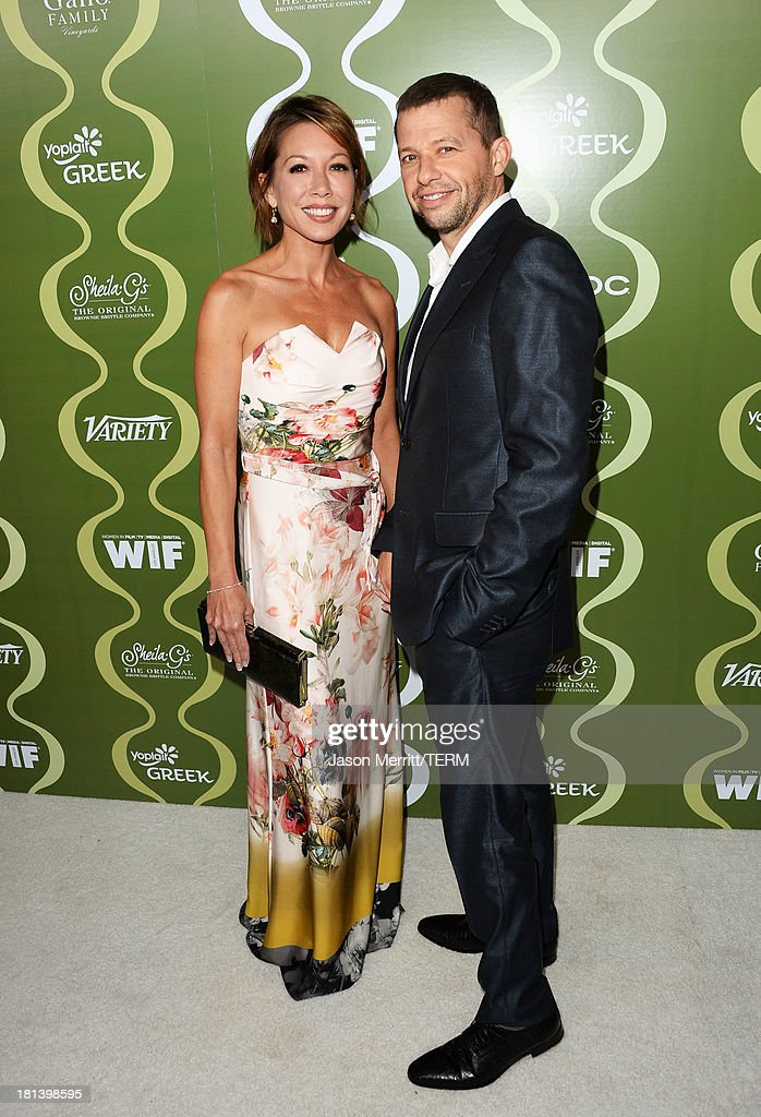 TV personality Lisa Joyner and actor Jon Cryer attend Variety & Women In Film Pre-Emmy Event presented by Yoplait Greek at Scarpetta on September 20, 2013 in Beverly Hills, California.